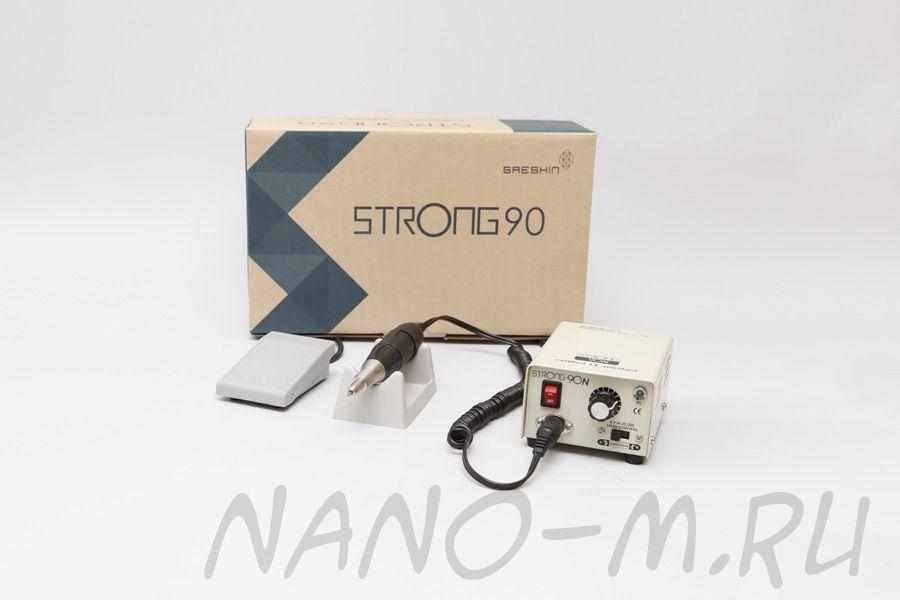 Аппарат Strong 90/102 для маникюра с педалью в коробке