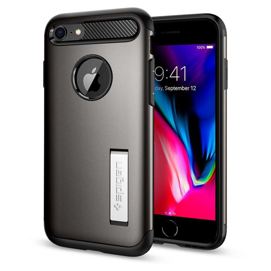 Чехол Spigen Slim Armor для iPhone 8 темный металлик