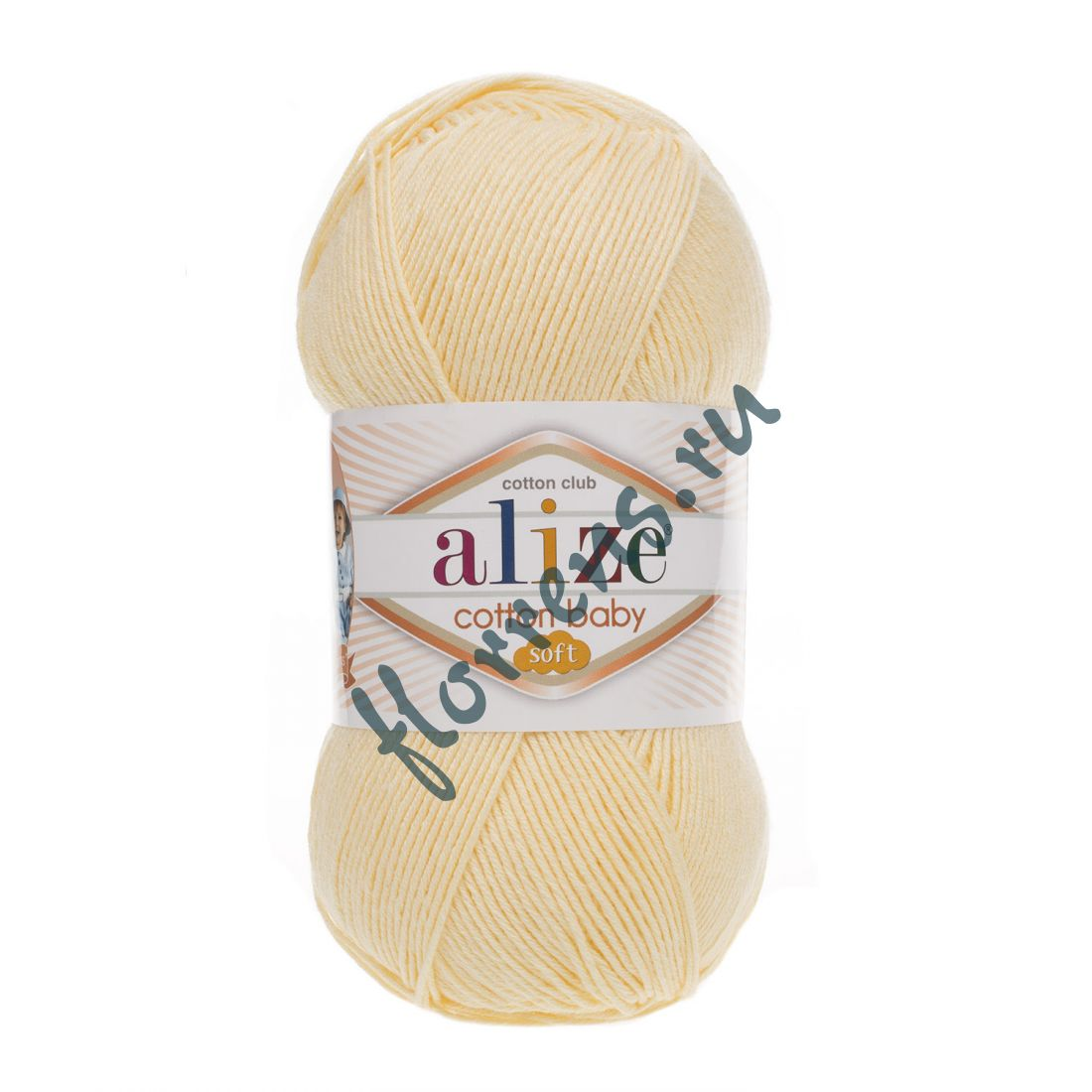 Пряжа Alize Cotton Baby soft / 13 светлый лимон