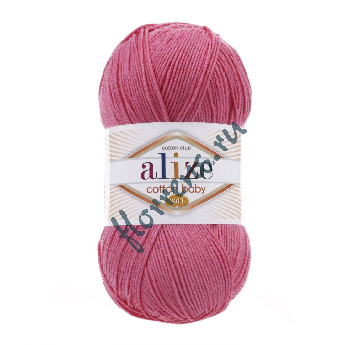 Пряжа Alize Cotton Baby soft / 181 темно-розовый