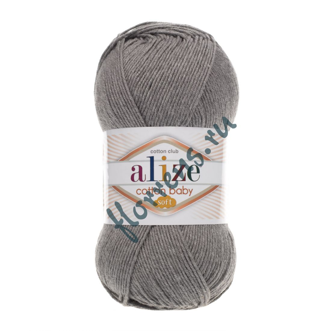 Пряжа Alize Cotton Baby soft / 197 т. серый меланж