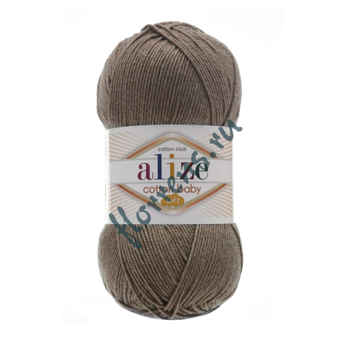 Пряжа Alize Cotton Baby soft / 240 светло-коричневый