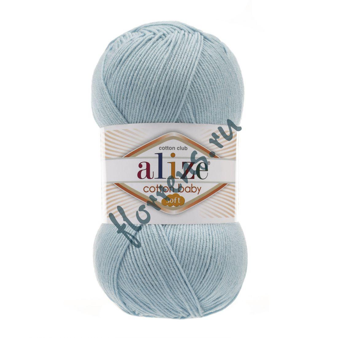 Пряжа Alize Cotton Baby soft / 335 св. бирюзовый
