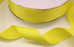 `Лента репсовая однотонная 50 мм, цвет: желтый