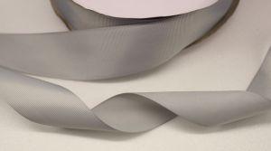 Лента репсовая однотонная 15 мм, длина 25 ярдов, цвет: серый