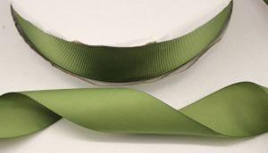 Лента репсовая однотонная 15 мм, длина 25 ярдов, цвет: хаки