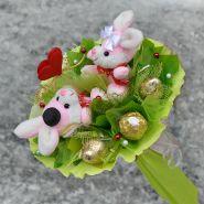 """Букет из игрушек и конфет №689-2К """"Сладкое свидание"""""""