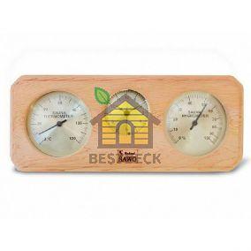 Термогигрометр с часами SAWO 260-THD из канадского кедра