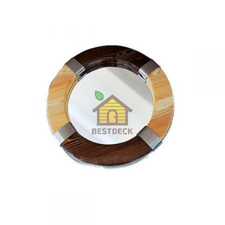 "Зеркало для сауны ""Спасательный круг"" диаметр 660 мм"