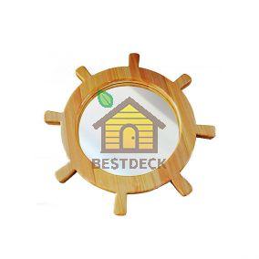 """Зеркало для сауны """"Штурвал"""" диаметр 700 мм"""