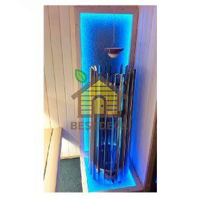 Декоративное панно с подсветкой Элегия, вертикальная стенка, 1000х565 мм