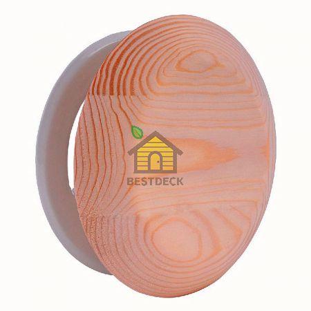 Вентиляционный клапан круглый из ольхи
