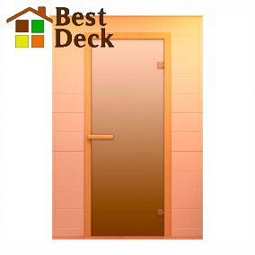 Дверь стеклянная для сауны ALDO, стекло матовое сатин