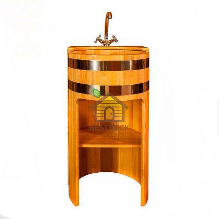 Умывальник-стойка из лиственницы 500*900 мм. Цвет: натуральный/мореный