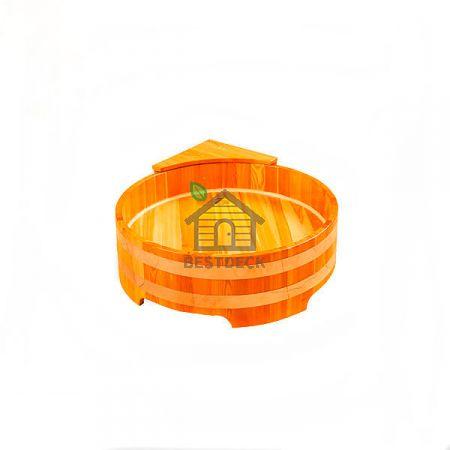 Душевой поддон из лиственницы 300*900 мм. Цвет: натуральный/мореный