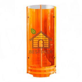 Душевая кабина со стеклом из лиственницы 900*2000 мм. Цвет: натуральный/мореный