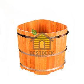 Купели угловые для бани из лиственницы. Цвет: натуральный/мореный