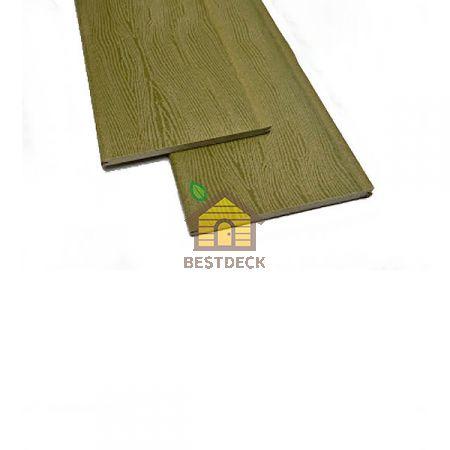 Фасадная доска-планкен из ДПК Экодэк 220*10 мм. Цвет: Оливковый.