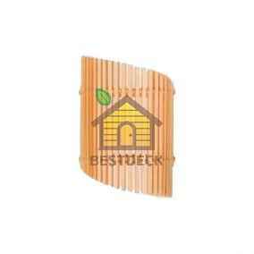 Деревянный абажур для сауны из липы №3