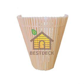 Деревянный абажур для сауны из липы №5