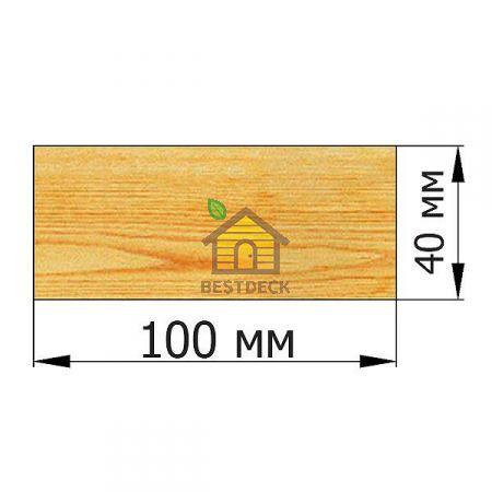 Доска 40*100 строганая сухая