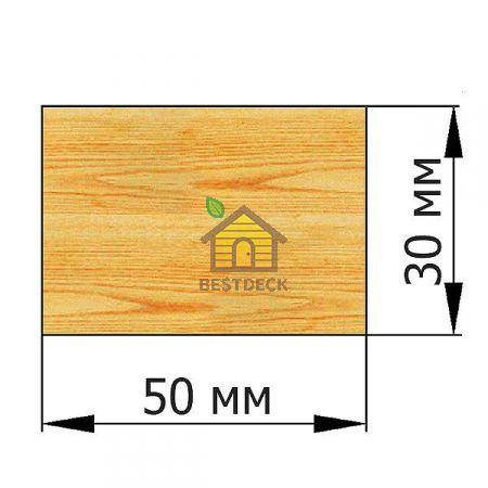 Брусок 30*50 строганый сухой