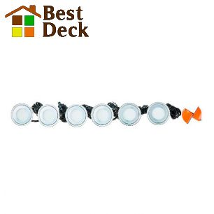 Светодиодная подсветка для террас. Диаметр 60мм; тёплый/холодный свет; комплект 6шт.