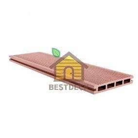 Террасная доска из ДПК 146*23 мм цвет: Шоколад Goodeck. Две рабочие поверхности. Структура дерева