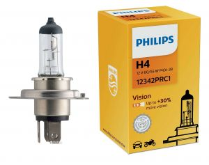 Лампа H4 PHILIPS +30% more vision