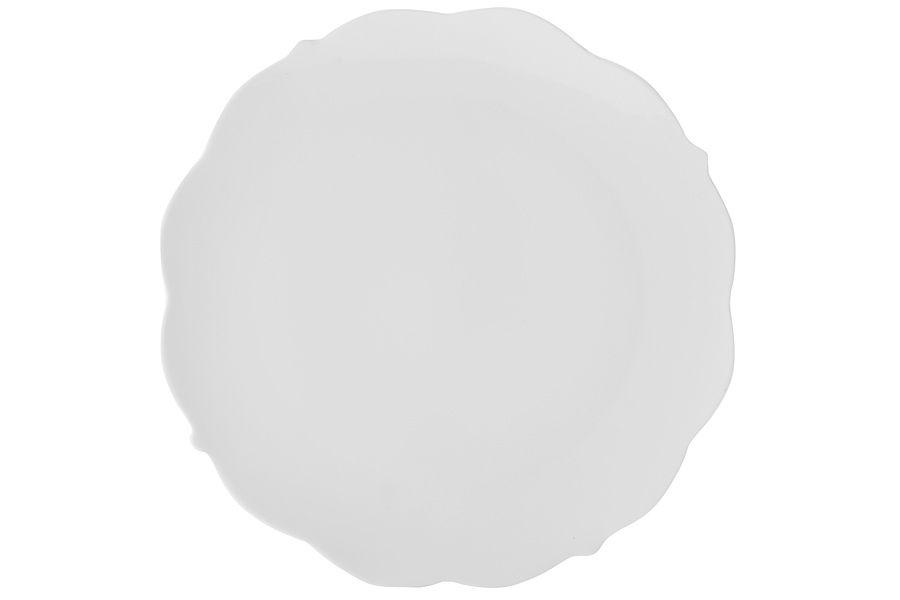 "Тарелка обеденная ""Белая роза"" без инд.упаковки, 26.5 см"