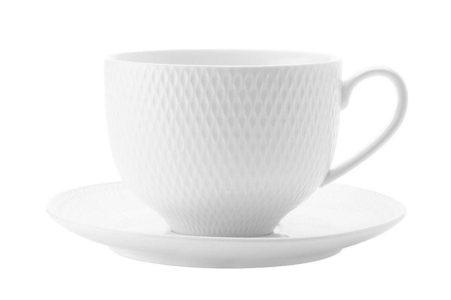 "Чашка с блюдцем ""Даймонд"" без инд.упаковки, 0.22 л"
