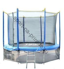 Батут OPTIFIT 14FT Like Blue с сеткой и лестницей