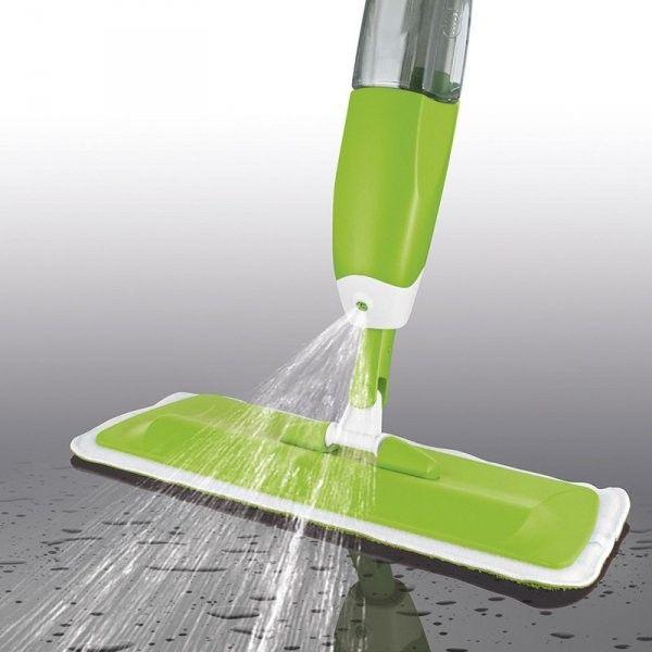 Швабра Со Встроенным Распылителем Healthy Spray Mop, Цвет Зеленый