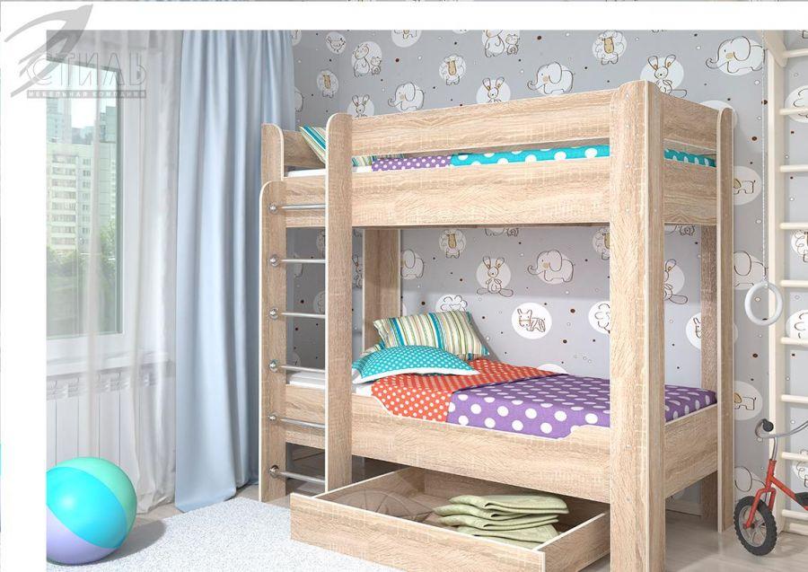 Детская кровать Мийа 4 двухъярусная