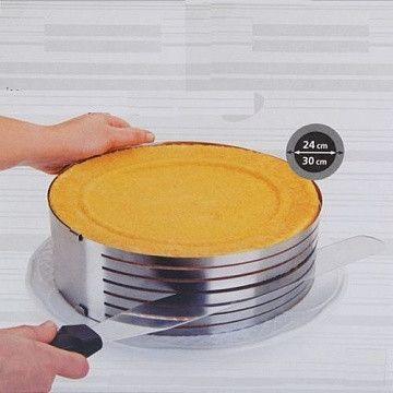 Регулируемая форма круглая с нарезкой (24-30 см, высота 8,5 см)