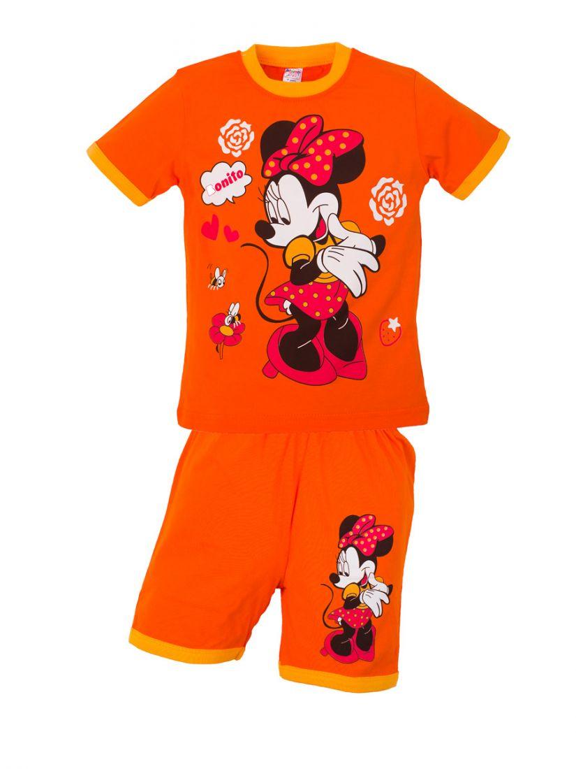 Оранжевый костюм для девочки Минни-Маус