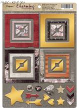 """Рамки из чипборда с фольгированием (золото)  30шт """"Charming"""""""