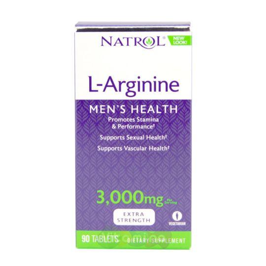Natrol Аргинин 3000 мг L-Arginine, 90 табл