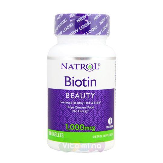 Natrol Биотин 1000 мкг, 100 табл