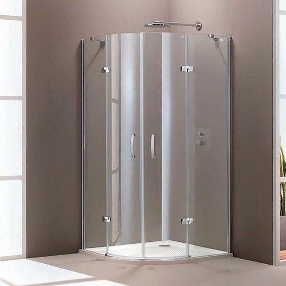Huppe Aura elegance 1/4 круга Двустворчатая распашная дверь с неподвижными сегментами 4008 ФОТО