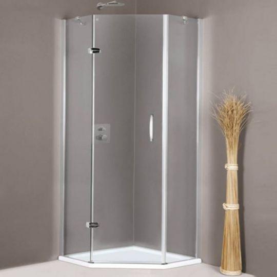 Huppe Aura elegance 5-угольная Распашная дверь с неподвижными сегментами крепление слева 4009