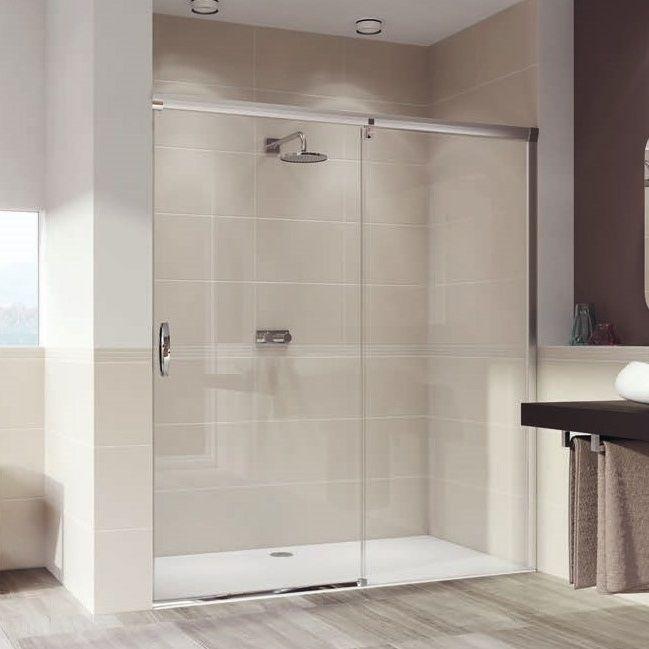 Huppe Aura elegance Односекционная раздвижная душевая дверь с неподвижным сегментом, крепление справа 4015 ФОТО