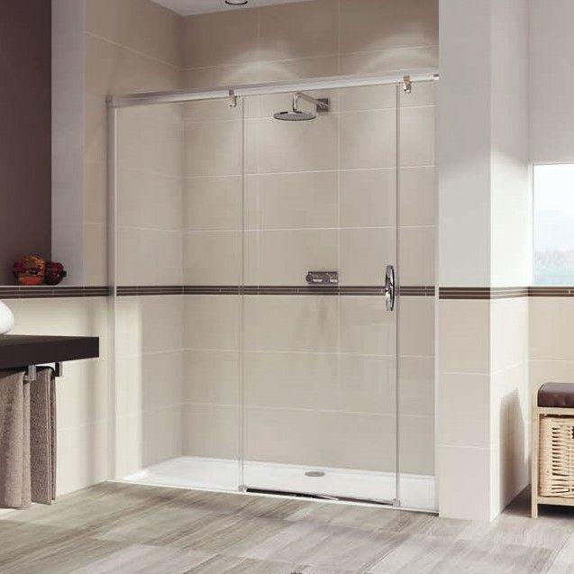 Huppe Aura elegance Раздвижная душевая дверь с неподвижным сегментом и доп. элементом крепление слева 4018 ФОТО