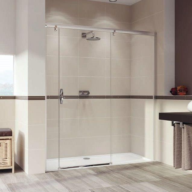Huppe Aura elegance Раздвижная душевая дверь с неподвижным сегментом и доп. элементом крепление справа 4019 ФОТО