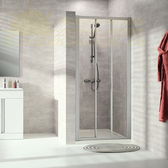 Раздвижная 2х-секционная душевая дверь с неподвижным сегментом Huppe Alpha 2 A222 ФОТО