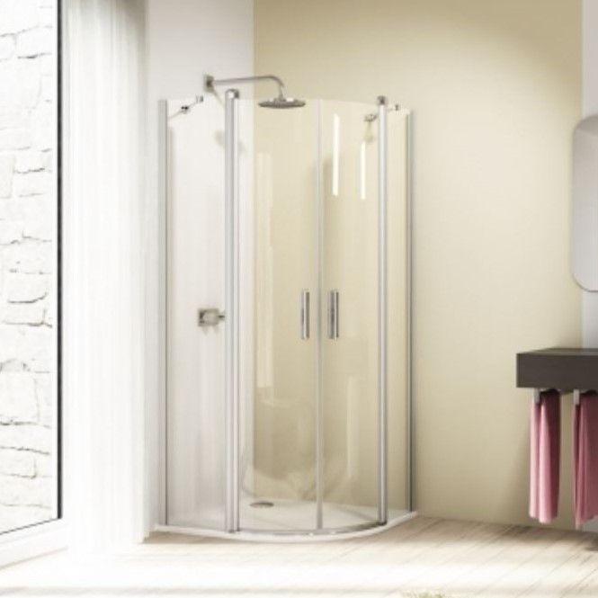 Huppe Design elegance 1/4 круга Двустворчатая распашная дверь с неподвижными сегментами 8E17 ФОТО