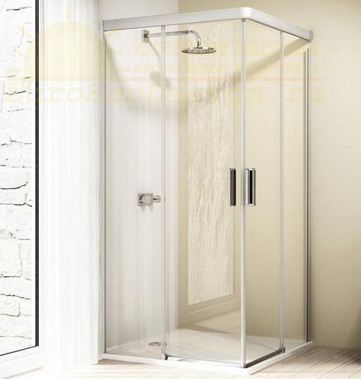 Huppe Design elegance 2х-секционная раздвижная дверь для углового входа 8E29 ФОТО
