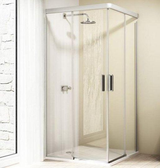 Huppe Design elegance 2х-секционная раздвижная дверь для углового входа 8E29