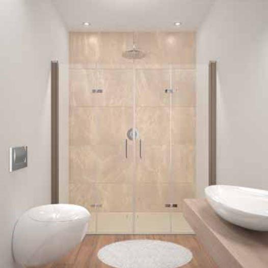 Huppe Design elegance Две распашные складывающиеся двери для ниши 8E79