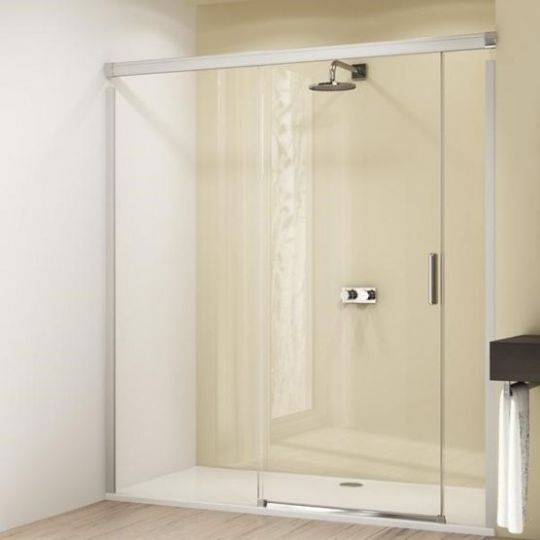Huppe Design elegance Раздвижная дверь с неподвижным сегментом и доп. элементом крепление слева 8E03